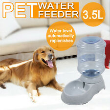 Large 3.5 Liters Automatic Pet Cat Dog Water Feeder Bowl Dispenser Plastic AU