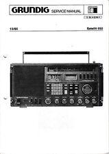 Service Manual-Anleitung für Grundig Satellit 650