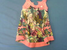 Girls 2-3 Years - Pink/Multi Colour Floral Sleeveless Lined Summer Dress - F&F