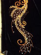 2,25 Samt mit Spitze schwarz orange   haute couture NEU