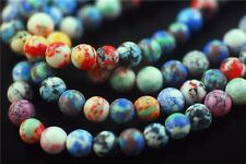 Bulk 15pcs Round Glass Synthetic Millefiori Beads Spacer Jewelry Findings 8mm