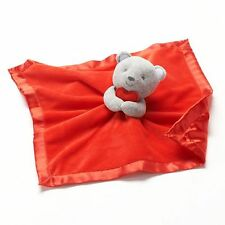Carter's Security Blanket with Rattle~Gray Teddy Bear with Red Heart & Blanket ~