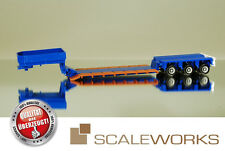 herpa / Scale Works 903047 Tieflader Goldhofer 3a blau *Schwertransport*