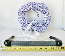 """NEW 75' Water ski 2 section BIG 3/8"""" 2000 lb Rope 12"""" Floating Handle USA Boat P"""