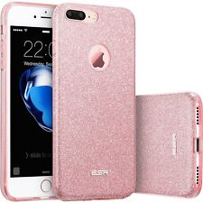 Apple iPhone 7 PLUS Bling caso Sparkle duro PROTEZ Rose Oro Fashion