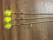 Gold Tip Traditional 500 Spiral Flu Flu Arrows Custom Set of 3
