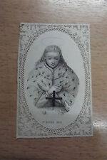 rare image pieuse canivet holy card ST Louis ROI èpoque XIXème