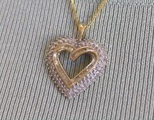 NEW OPEN HEART NECKLACE WITH 112 DIAMONDS (yellow gold)