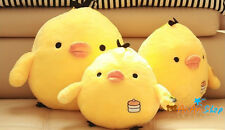 Free Shipping 14'' Stuffed Animal Doll Plush Yellow Chicken Hold Pillow Soft Toy