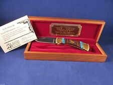 "Buck David Yellowhorse  112 Custom ""MUSTANG"" Knife Mint In Display Case"