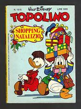 TOPOLINO N° 1515 - 9 DICEMBRE 1984
