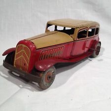 1930's SEDAN TOURING TIN W/UP TOY CAR 10 3/4 INCHES LONG, POSS. WELLS, ENGLAND