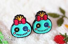 Disney lilo&stitch scrump metal earring ear stud unisex earrings 2PCS earring ne