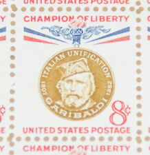 1960 sheet, 8-cent Champion of Liberty, Giuseppe Garibaldi Sc# 1169