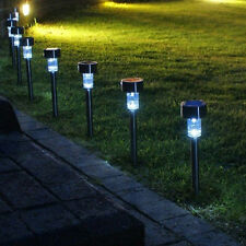 24 x STAINLESS STEEL OUTDOOR GARDEN POLE SOLAR LIGHTS GA419