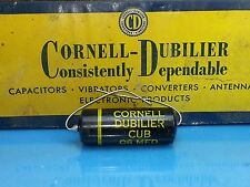 CORNELL DUBILLIER POI CAPACITOR .06 UF 600 V VOLT 1950 PAPER IN OIL NOS CUB 6S6