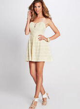 NWT GUESS Sleeveless Dotted Lace Up Corset Dress Ivory Sz 4 Retail $98.00