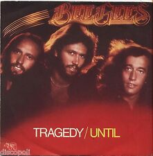 "BEE GEES - Tragedy/Until - VINYL 7"" 45 ITALY 1979 NEAR MINT COVER VG+ CONDITION"