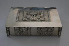 Bolivia 900 marked silver box cigar cigarette jewellery L D G A