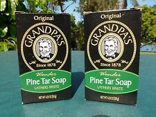 "Grandpa's Pine Tar Soap 4.25 oz. Bar.  2- Bars  ""Original"""
