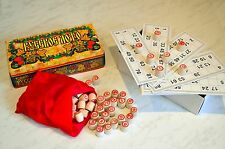 LOTTO LOTO Bingo Russian traditional board game for all family. Wooden barrels.