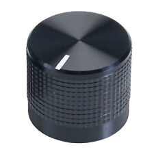 Black Aluminium Clad Plastic Knob for 6mm Splined Shafts Cliff Line Marker