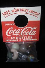 "Vintage Coca Cola Agate Marble Set of  7 ""Bottle Topper"" Old Store Stock SEALED"