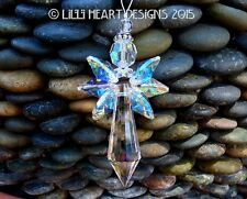 m/w Swarovski and Fine Crystal Faceted AB Angel Suncatcher Lilli Heart Designs