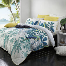Logan and Mason Daintree Fern Tropical Queen Size Doona Duvet Quilt Cover Set