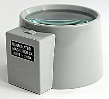 Magnifier - 3X Illuminated Desk Magnifier 90mm Diam. (D3XLED)