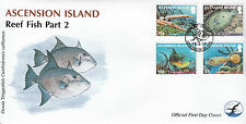 Ascension Island 2012 FDC Reef Fish Part 2 4v Cover Trumpetfish Peacock Flounder