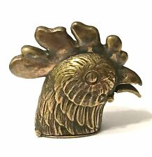 Brass Novelty Vesta Case Cockerel Head