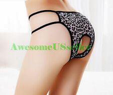 Sexy Women's Mesh Open-Back Thongs G-string Panties Briefs Underwear Lingerie