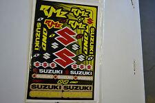 ONE INDUSTRIES TEAM  SUZUKI RMZ  UNIVERSAL GRAPHICS STICKERS 12X18 SHEET