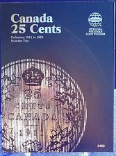 Whitman Canada 25 Cents Collection 1911-1952 Vol #2 Coin Folder Album/book #2482