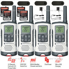 Motorola Talkabout T260 Walkie Talkie 4 Pack Two-Way Radios Weather 25 Mile