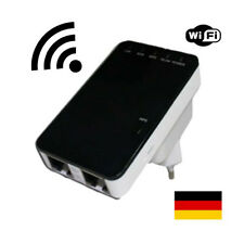 300 Mbit Highspeed WLAN Repeater Wifi Verstärker + Mini Router Funktion WPS LAN