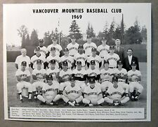 original 1969 VANCOUVER MOUNTIES team photo SEATTLE PILOTS PCL Farm Team mint
