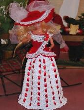 CROCHET FASHION DOLL PATTERN-ICS DESIGNS-292 CHRISTMAS LACE