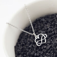 Open Infinity Heart Necklace - 925 Sterling Silver - Eternal Love Pendant Charm