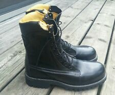 Vintage CHIPPEWA Military Jump Boots Motorcycle Steel Toe Logger Men's 6.5