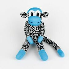 Blue Leopard Traditional Sock Monkey Stuffed Animals Doll Boy Baby Toys