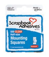 3L Scrapbook Adhesives - Mounting Squares - Clear - Half Size
