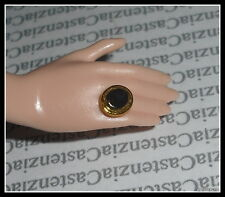 JEWELRY BARBIE DOLL MODEL MUSE JUICY COUTURE FAUX GOLD BLACK RING FOR  DIORAMA