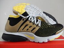 NIKE AIR PRESTO FLYKNIT ULTRA BLACK-YELLOW STRIKE-GOLD SZ 7.5 [835570-007]