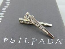 "NIB Silpada Sterling Silver Crystal ""SPOTLIGHT"" Geometric Post Earrings P3466"