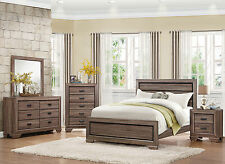 DANVILLE - 5 Pieces Modern Light Natural Brown Queen Panel Bedroom Set Furniture