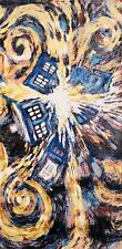 Doctor Who Van Gogh Exploding Tardis Pandorica Bath Beach Towel 60x30 inches BBC
