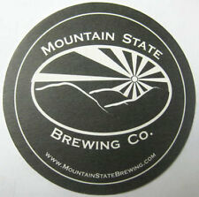 MOUNTAIN STATE BREWING Co. Beer COASTER Mat Thomas WEST VIRGINIA 3.5inch variety