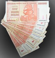 10 x Zimbabwe 50 Billion Dollar banknotes-paper money currency-2008/AA or AB